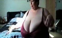 BBW Webcam Striptease