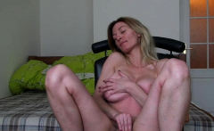 Astonishing girlfriend records herself while masturbating