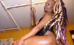 chocolate fetish doll sexy milf play with that pussy