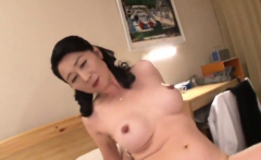 Pretty Cougar Japanese Asian Fucks Well Home