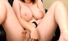Awesome asian natural busty girl masturbating on webcam