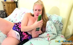 EuropeMaturE Busty British Mature Masturbation
