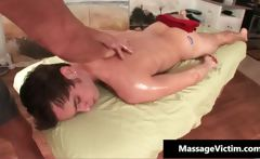 Dirty gay guy gets a massage