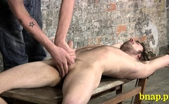 Gay twink gets tons of fun experiencing sadomasochism sex