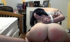 my slut tied and both holes penetrated