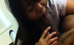 Sweet Taiwanese Cutie Sucks And Plays With Black Cock