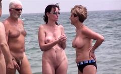 Hottest Nude Beach Group Spy Video Vol 1