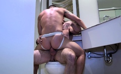 MANALIZED Daddy Bishop Angus Cums Inside Muscular Bottom
