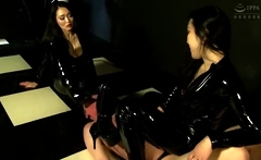 Fetish threesome with hotties in latex