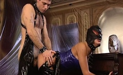 gentle fetish anal actions with latex and bdsm