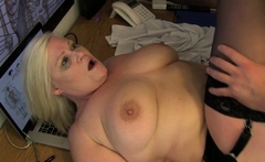Mature doctor ass banged in office