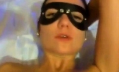 She likes to wear a mask when getting her ass fucked.