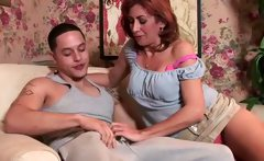 Mature hot lady in a first porn shoot
