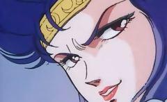 Ebony anime babe is aroused just