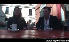 Video of busty blond slut fucking