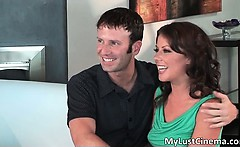 Brunette babe teaches how to anal